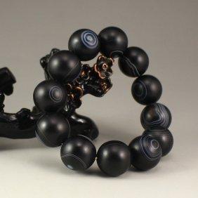 Chinese Tibet Diz Agate Beads Bracelet