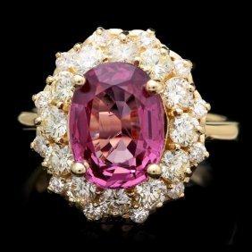14k Yellow Gold 4.00ct Spinel 1.60ct Diamond Ring