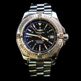 Breitling Colt Automatic Ss 41mm Black Dial Luxury Mens