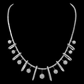 14k Gold 5.75ct Diamond Necklace
