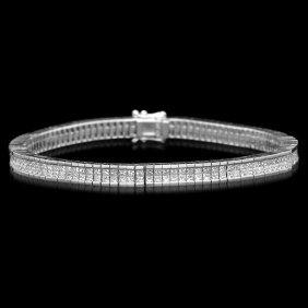 14k Gold 6.70ct Diamond Bracelet