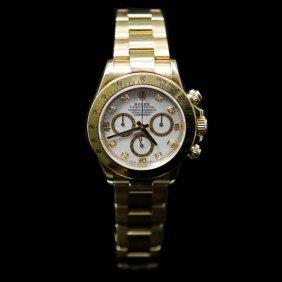 Rolex Daytona 40mm 18k Yellow Gold Mop Diamond Dial