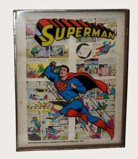 Framed Superman Comics