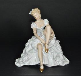A German Porcelain Figural Ballet Woman