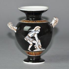 A German Porcelain Figural Vase