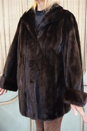 Blackglama Ranch Mink Fur Coat