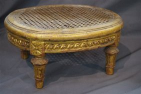 French Gilted Foot Stool