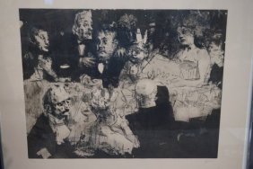 Jack Levine (1915-2010) Signed Lithograph
