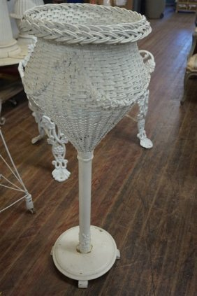 Antique Wicker Fern Stand