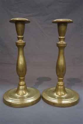 Heavy And Thick Solid Brass English Candlesticks