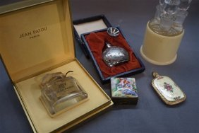 Five (5) Vintage Perfumes With Jean Patou, Sterling