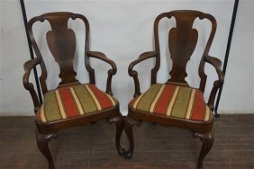 Chippendale Style Mahogany Armchairs By Francis Bacon