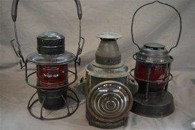 Three (3) Adlake & Dietz Lanterns