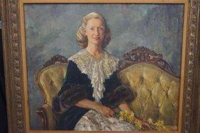 William Franklin Draper (american 1912-2003) Portrait