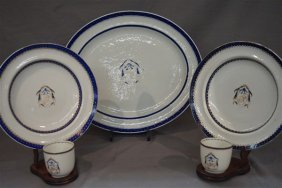 Five Piece Chinese Export Armorial China