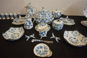 140pc. Meissen Blue Onion China Service