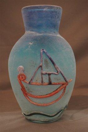 Murano Fabio Tosi , Cenedese Murano Glass Vase