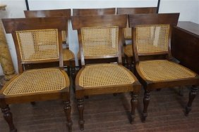 Six (6) Regency Style French Caned Chairs