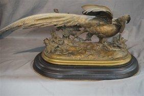 Jules Moigniez (french,1835-94) Bronze Pheasant Lizard