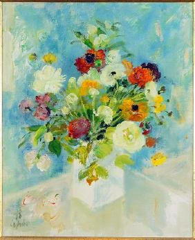 Le Pho (vietnamese-french, 1907-2001) Bouquet.