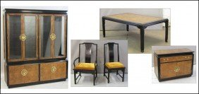 CENTURY FURNITURE ASIAN STYLE DINING SUITE.