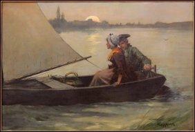 EDWARD PERCY MORAN (1862-1935) MOONLIGHT RENDE