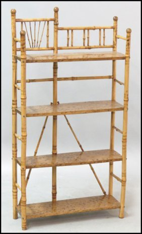 VICTORIAN STYLE BAMBOO ETAGERE.