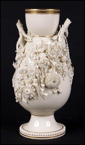 Belleek Porcelain Flower Vase Lot 1282084