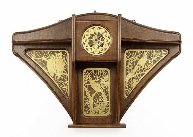 Wall Clock Art Nouveau : A french art nouveau wall clock lot