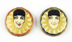 A French Art Deco Tokalon Compact Powder And Rouge Box.