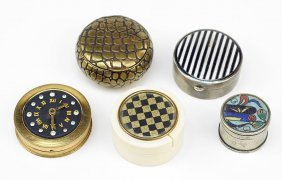 A Collection Of Vintage Pill Boxes.
