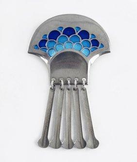 A David Andersen Norway Sterling Silver Enamel