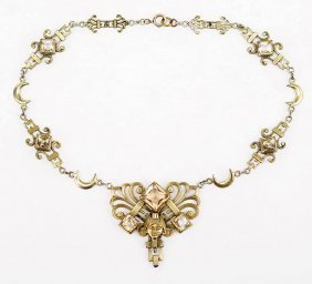 An Egyptian Revival Necklace.