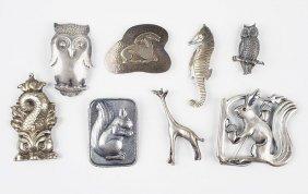 A Mogens Ballin Silver Squirrel Brooch.