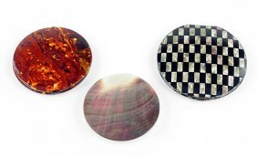 A Collection Of Celluloid Compacts.