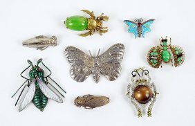 A Czech Painted Metal Insect Brooch.