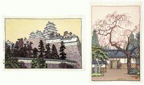 Toshi Yoshida (japanese, 1911-1995) Two Color Woodblock