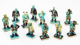 A Set Of Twelve Chinese Porcelain Zodiac Figures.