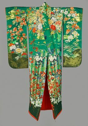 A Japanese Uchikake Kimono.