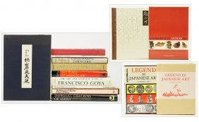A Collection Of Books On Japanese Art.