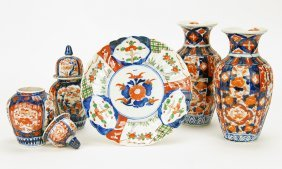 A Group Of Early 20th Century Chinese Imari Porcelain.
