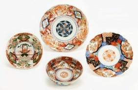 Three Early 20th Century Kutani Porcelain Plates.