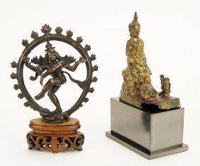 An Indian Bronze Figure Of Shiva Nataraja.