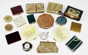 A Collection Of Vintage Compacts.