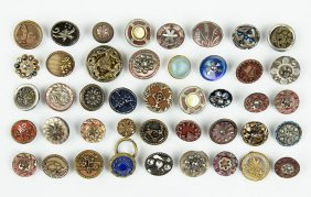 A Collection Of Victorian Buttons.