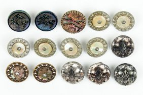 A Collection Of Victorian Mother-of-pearl And Metal