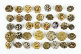 A Collection Of Victorian Metal Buttons.
