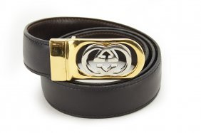 A Gucci Reversible Leather Belt.