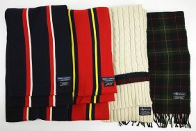 Two Ralph Lauren Wool Blend Scarves.