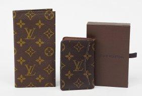 A Louis Vuitton Monogrammed Canvas Pocket Organizer.